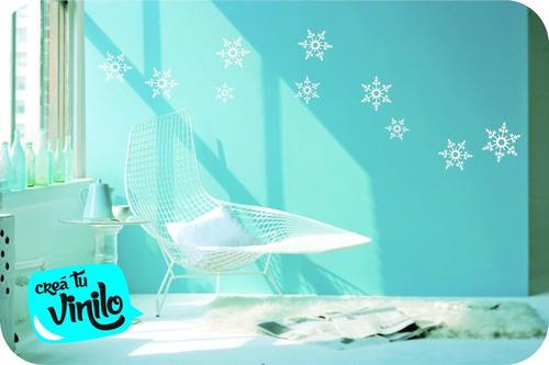 vinilo plancha copos de nieve plancha 40x30cm