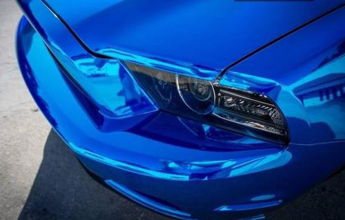 vinilo ploter azul cromado moldeable unico!  1.52x100cm auto