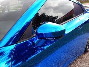vinilo ploter azul cromado moldeable unico!  1.52x50cm auto