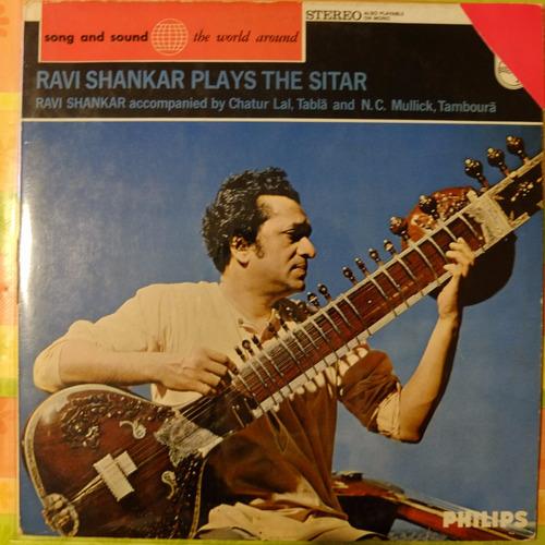 vinilo ravi shankar    ravi shankar plays the sitar