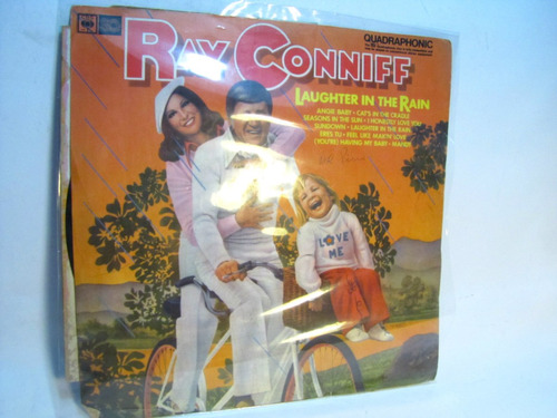 vinilo ray conniff. laughter in the rain