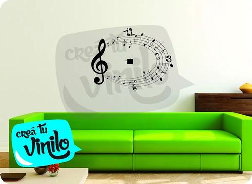 vinilo reloj, diseño musical, decoracion ambiente para crear
