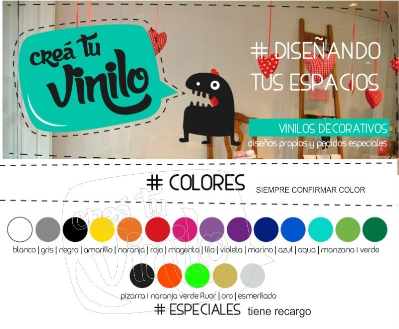 Vistoso Crear Vinilos Decorativos Componente Ideas de Decoracin