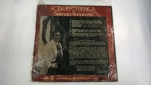 vinilo rodolfo lezica - serenata romancera