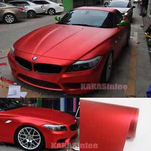 vinilo rojo mate metalizado premium con canales de aire..