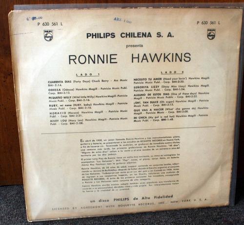 vinilo ronnie hawkins y los halcones
