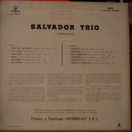 vinilo salvador trio bossa jazz very rare 8,5 puntos brasil