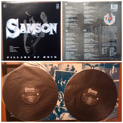 vinilo samson - pillars of rock (1990)