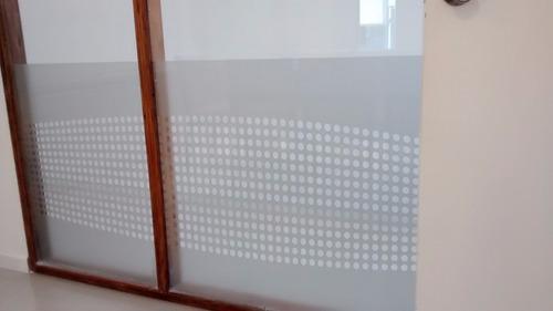 vinilo satinado opaco p/ ventanas y vidrios