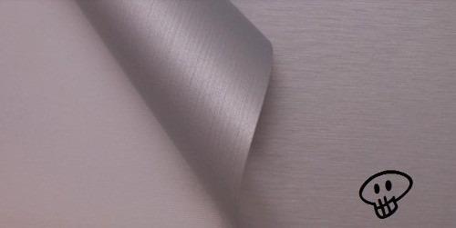 vinilo símil aluminio cepillado - plotter 3m autos - envios