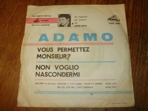vinilo simple 7'' adamo la voce del padrone italia 1964
