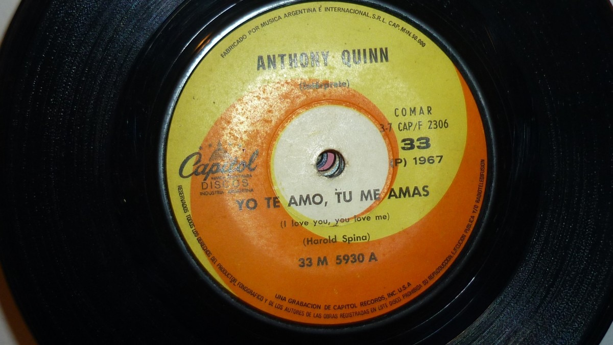 vinilo simple anthony quinn yo te amo tu me amas a veces 105