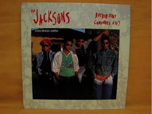 vinilo single 12  the jacksons nothin (that compares 2u)