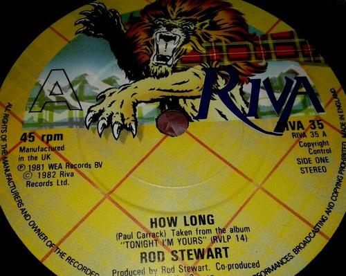 vinilo single 45 - rod stewart - how long