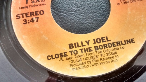 vinilo  single  billy joel  -close to the borde  ( u91