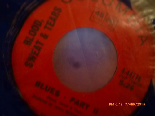 vinilo single    blood sweat & tears  --blues  ( s3