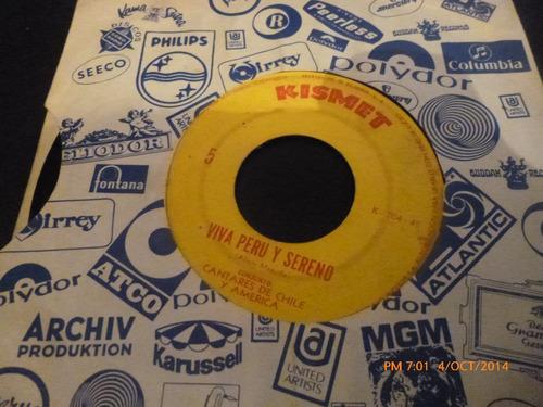 vinilo single cantares de chile y america - pajaro c ( b131
