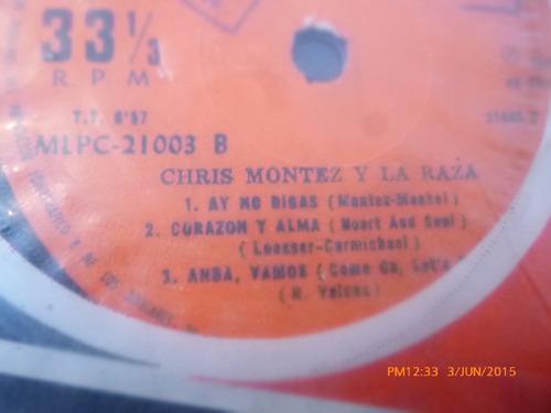 vinilo single chris montez -y la raza - bailemos ( h71