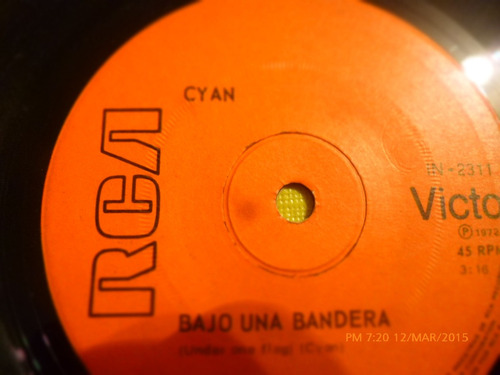 vinilo single - cyan --mama papa ( c135 i65
