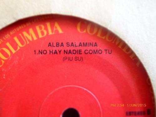 vinilo single de alba salamina - cuando nace el amor(  h64