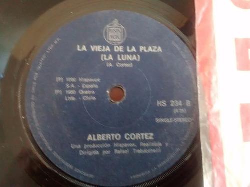 vinilo  single de alberto cortez - esperandome ( r145