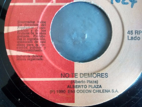 vinilo single de alberto plaza - no te demores ( p56
