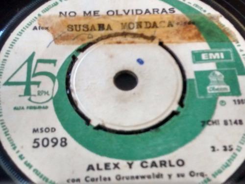 vinilo single de alex y carlo - no me olvidaras ( e20