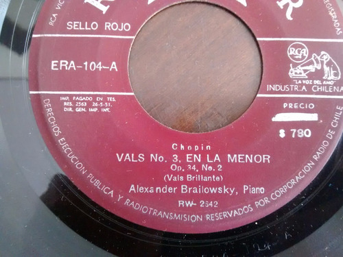 vinilo single de alexander brailowscki - chopin  ( e30