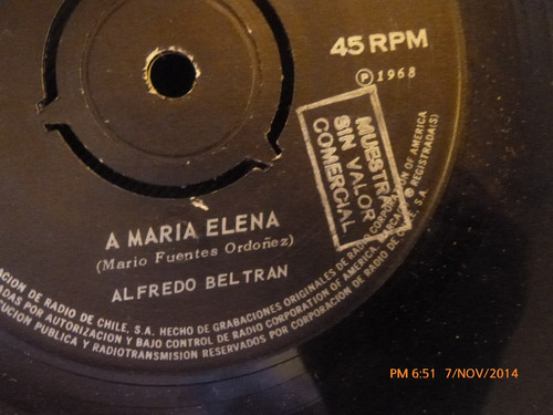 vinilo single de alfredo beltran -- el guainita( a95