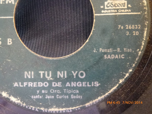 vinilo single de alfredo de angelis --blanca nieves( a74