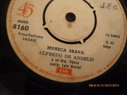 vinilo single  de alfredo de angelis -- muñeca brava ( b67