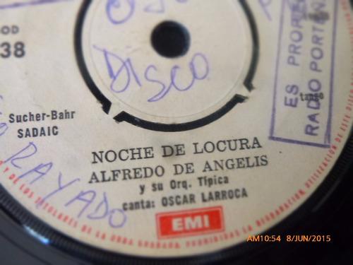 vinilo single de alfredo de angelis -- noche de locura ( q31
