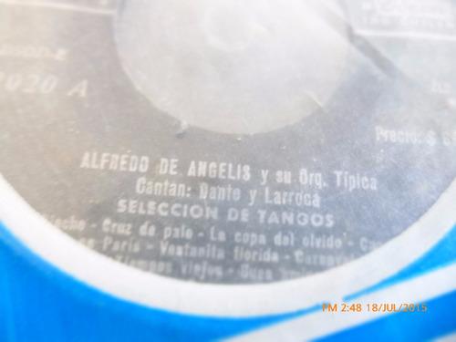 vinilo single de alfredo de angelis -- seleccion de t ( r27