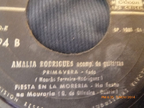 vinilo single de amalia rodriguez -- soledad( s96