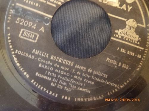 vinilo single de amalia rodriguez -- soledad(a415