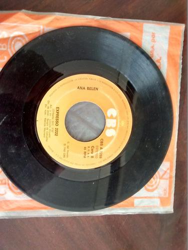 vinilo single de ana belen  - balance ( r16