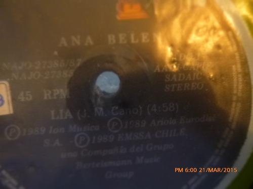 vinilo single de ana belen -ya no puedo parar ( a71