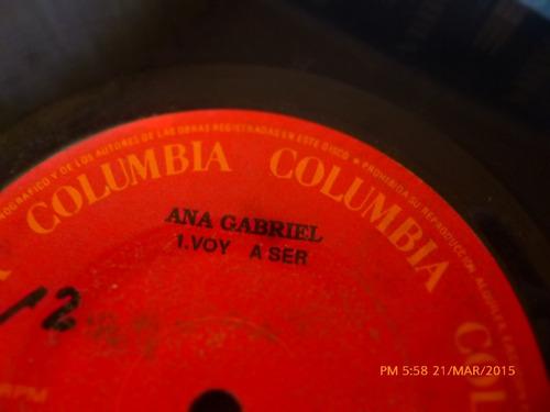 vinilo single de ana  gabriel  -no siempre se gana ( a51