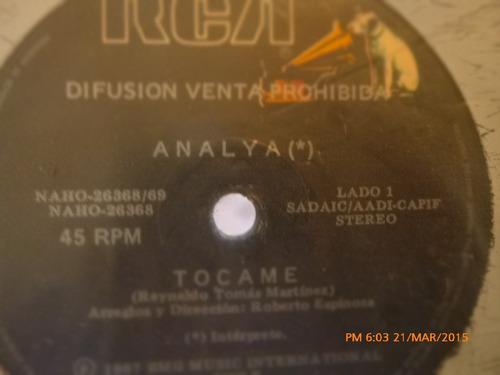 vinilo single de analya .tocame ( a65