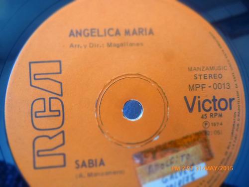 vinilo single  de angelica maria  ---sabia ( h104