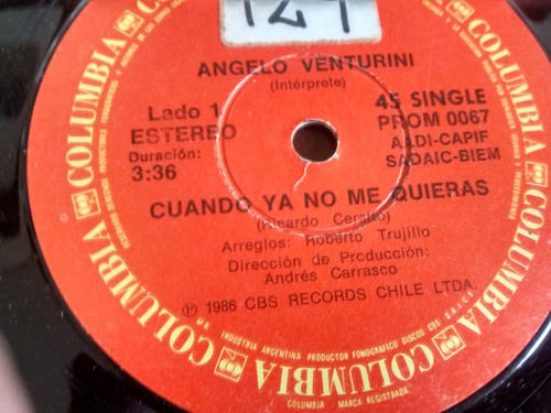 vinilo single de angelo venturini - el canalla ( t60