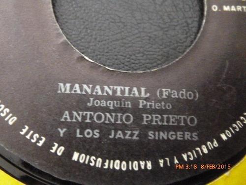 vinilo single de antonio prieto y los jazz singers ( b134