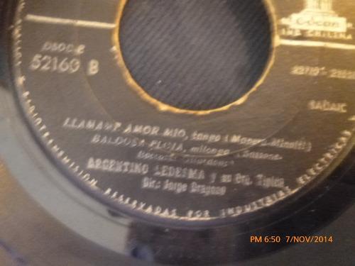 vinilo single de argentino ledesma -llamamev amor mi( a100