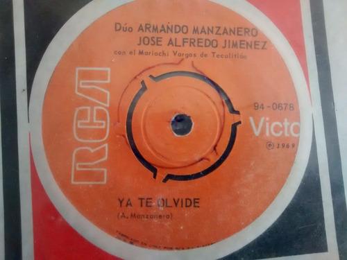vinilo single de armando manzanero -jose alfredo jimen( q87