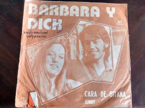 vinilo single de barbara y dick - cara de gitana (j28