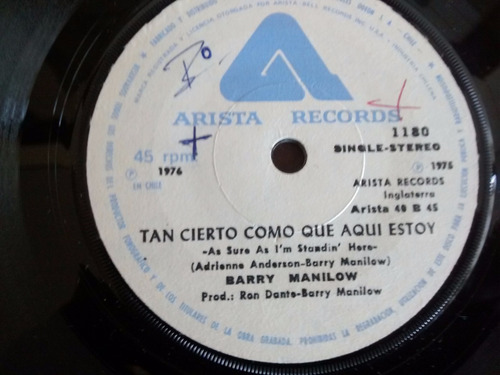 vinilo single de barry manilow - yo escribo las cancio( e78