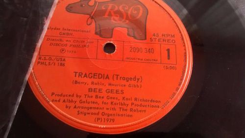 vinilo single de bee gees  --hasta ( u66
