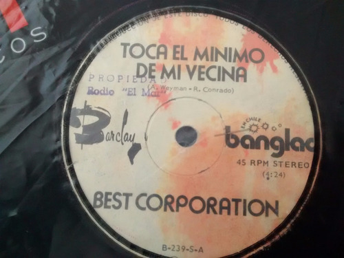 vinilo single de best corporation - mam'zelle lola( f132