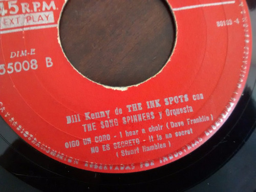 vinilo single de bill kenny the ink spots   ( e56