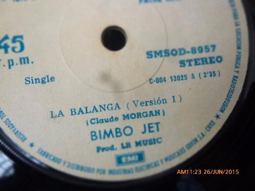 vinilo single de bimbo jet -- balanga ( n121